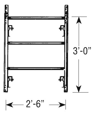 "SCAFFOLD END SHORT NRW 28""W X 3'H"