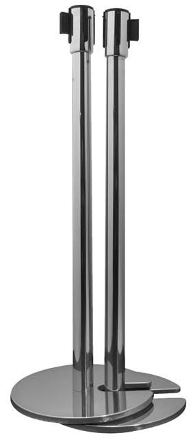 STANCHIONS, CHROME W/8' STRAP