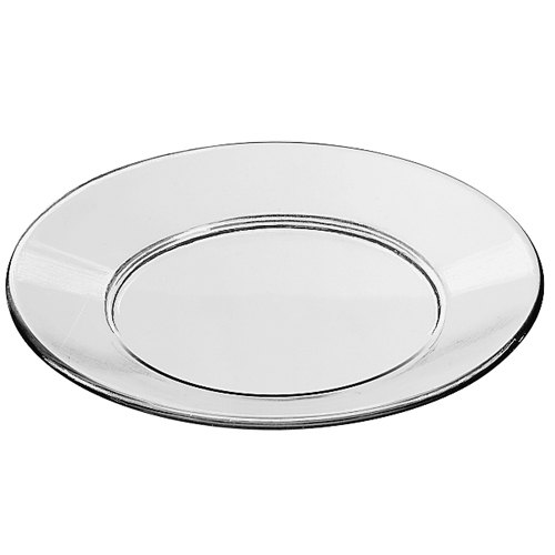 PLATE, DINNER CLEAR GLASS 9 1/8""