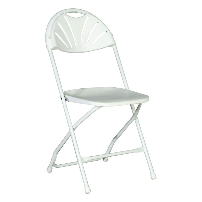 CHAIR WHITE FANBACK