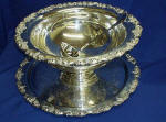 PUNCHBOWL SILVER W/TRAY,LADLE