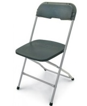 CHARCOAL ALUMINUM CHAIR