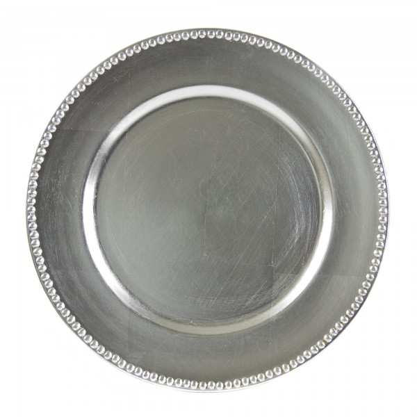 CHARGER PLATE SILVER 13""